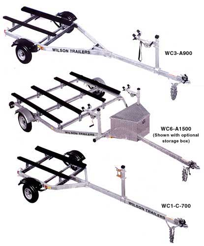 PWC Trailers with water vehicle and bow  stop options